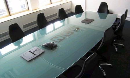 Tavolo Da Riunione In Vetro.Proteggi Tavolo Trasparente