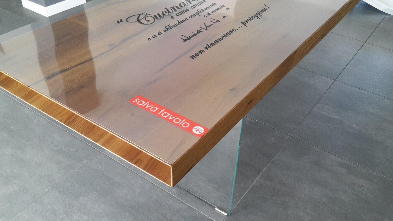 Proteggi tavolo trasparente for Tavolo pranzo trasparente