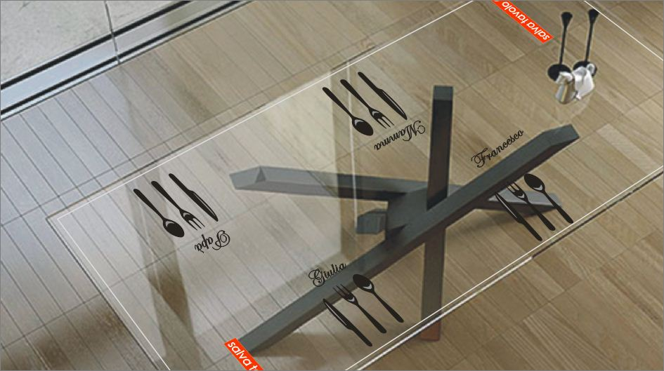 Proteggi tavolo trasparente for Piani di stand da pranzo