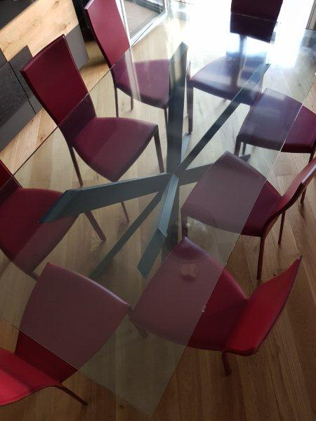 tavolo vetro trasparente